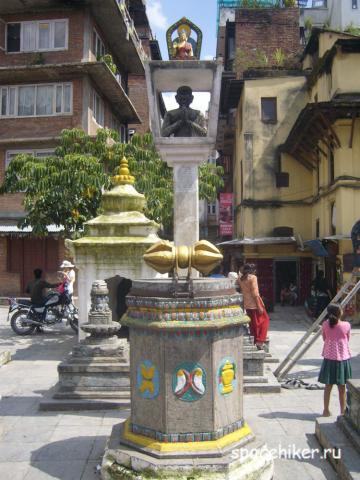 Непал, Катманду, Бактапур, Нагаркот, ступа, автостоп, путешествие